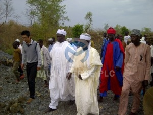 Abuni Mine Site visit by the Emir of Awe HRH (Alh.) Abubakar Umar and Emir of Azara HRH (Dr.) Kabiru Musa Ibrahim.
