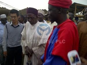Abuni Mine Site visit by the Emir of Awe HRH (Alh.) Abubakar Umar and Emir of Azara HRH (Dr.) Kabiru Musa Ibrahim. Prayers by the chief of Abuni community.