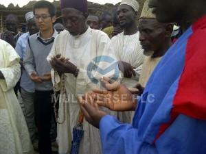Abuni Mine Site visit by the Emir of Awe HRH (Alh.) Abubakar Umar and Emir of Azara HRH (Dr.) Kabiru Musa Ibrahim:  Prayers for the mining community.