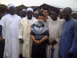 Abuni Mine Site visit by the Emir of Awe HRH (Alh.) Abubakar Umar and Emir of Azara HRH (Dr.) Kabiru Musa Ibrahim.